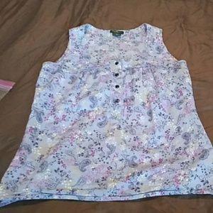 5/$25🌴Eddie Bauer sleeveless blouse